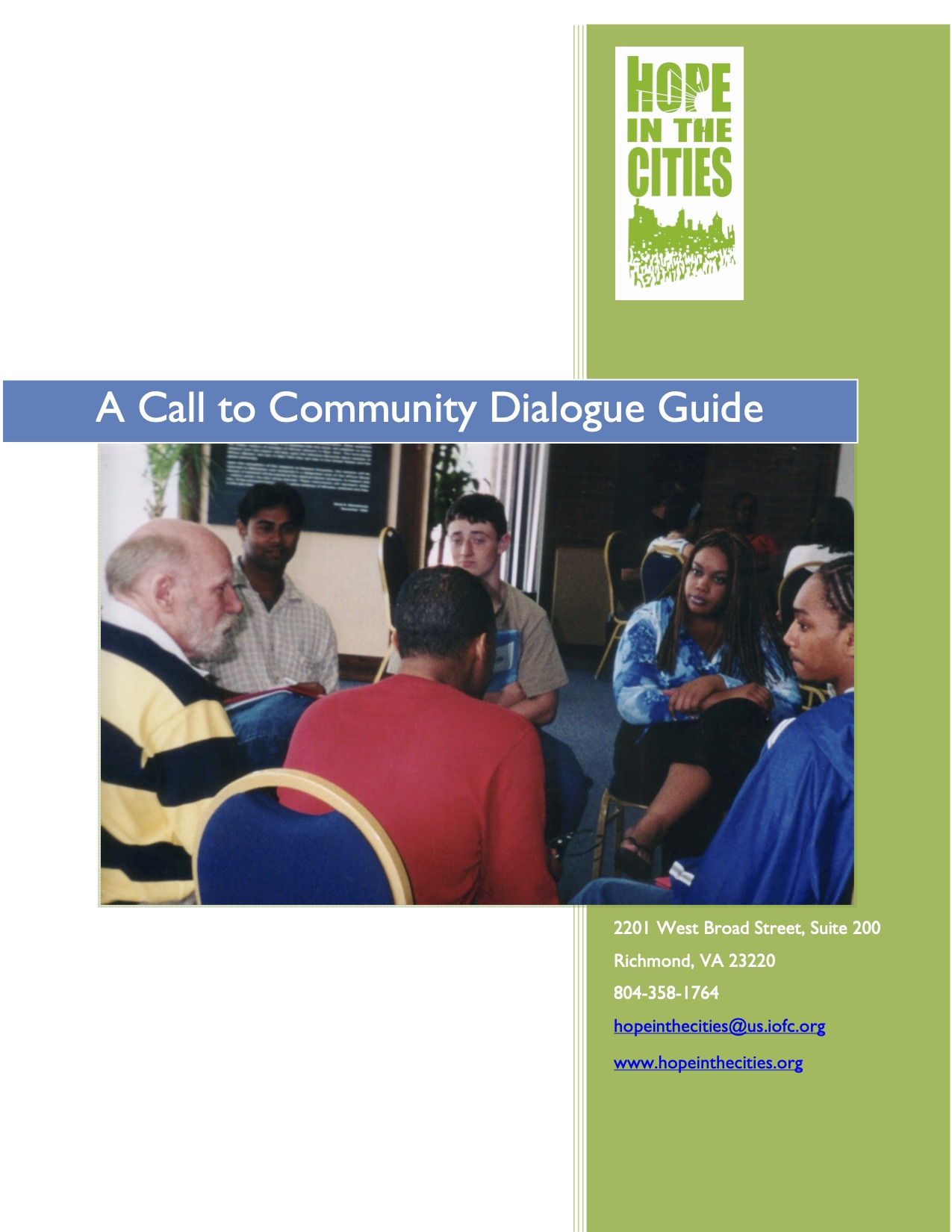A Call to Community – Dialogue Guide (Rob Corcoran)