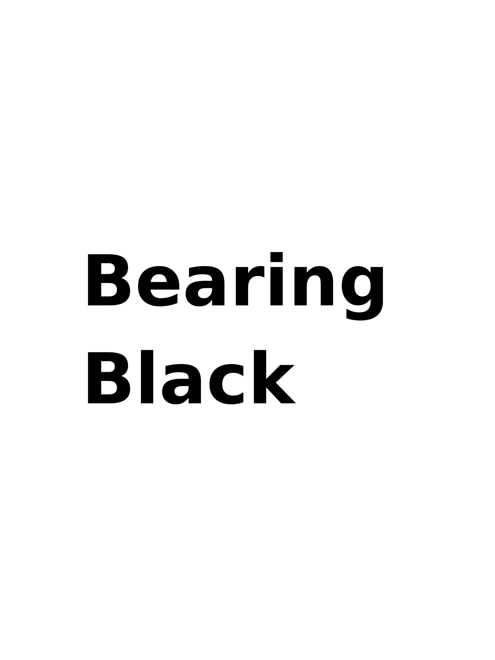 Bearing Black