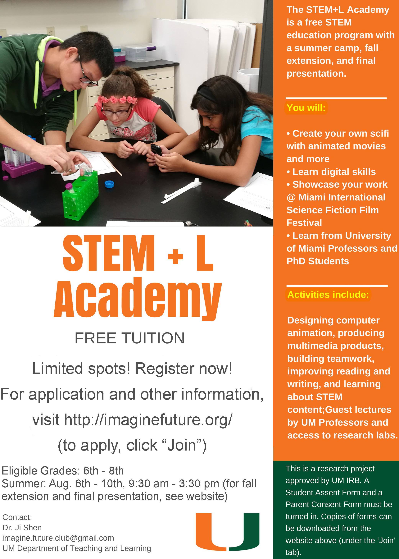STEML Academy flyer